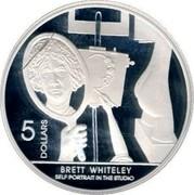Australia 5 Dollars Brett Whitley 2006 KM# 789 BRETT QHITELEY SELF PORTRAIT IN THE STUDIO 5 DOLLARS coin reverse
