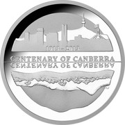 Australia 5 Dollars Centenary of Canberra 2013 KM# 2154 CENTENARY OF CANBERRA 1913 - 2013 AS coin reverse
