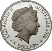 Australia 5 Dollars Duyfken 2006 KM# 813a ELIZABETH II AUSTRALIA 2006 5 DOLLARS IRB coin obverse