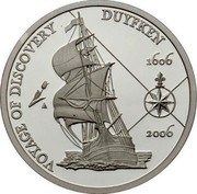 Australia 5 Dollars Duyfken 2006 KM# 813a VOYAGE DISCOVERY DUYFKEN 1606 2006 coin reverse