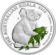 Australia 5 Dollars Koala 2005 P Proof KM# 1871 THE AUSTRALIAN KOALA 2005 - 1/20 OZ. 9995 PLATINUM coin reverse