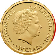 Australia 5 Dollars Port Arthur Historic Site 2011 KM# 1637 ELIZABETH II AUSTRALIA 2011 5 DOLLARS IRB coin obverse