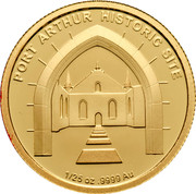 Australia 5 Dollars Port Arthur Historic Site 2011 KM# 1637 PORTH ARTHUR HISTORIC SITE 1/25 OZ .9999 AU coin reverse