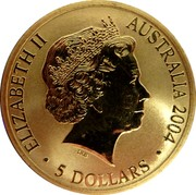 Australia 5 Dollars Sydney to Athens 2004 2004 KM# 812 ELIZABETH II AUSTRALIA 2004 5 DOLLARS IRB coin obverse