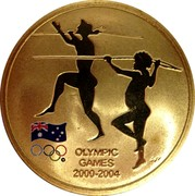 Australia 5 Dollars Sydney to Athens 2004 2004 KM# 812 OLYMPIC GAMES 2000-2004 WP coin reverse
