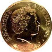 Australia 5 Dollars Tasmania Bicentenary 2004 KM# 728a ELIZABETH II AUSTRALIA 2004 5 DOLLARS IRB coin obverse