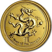 Australia 5 Dollars Year of the Dragon 2012 KM# 1670 YEAR OF THE DRAGON P coin reverse