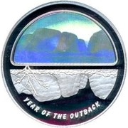 Australia 5 Dollars Year of the Outback 2002 KM# 662 YEAR OF THE OUTBACK coin reverse
