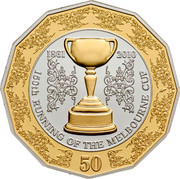 Australia 50 Cents 150th Running of the Melbourne Cup 2010 KM# 1519 1861-2010 150TH RUNNING OF THE MELBOURNE CUP 50 coin reverse