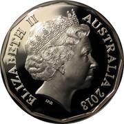 Australia 50 Cents 60th Anniversary of the Coronation of Her Majesty Queen Elizabeth II 2013 KM# 2094a ELIZABETH II AUSTRALIA 2013 IRB coin obverse