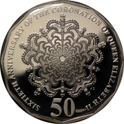 Australia 50 Cents 60th Anniversary of the Coronation of Her Majesty Queen Elizabeth II 2013 KM# 2094a SIXTIETH ANNIVERSARY OF THE CORONATION OF QUEEN ELIZABETH II 50 coin reverse