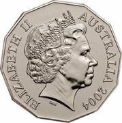 Australia 50 Cents (Animals Student Design) KM# 694 ELIZABETH II AUSTRALIA 2004 IRB coin obverse