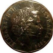 Australia 50 Cents Athletics 2006 KM# 777 ELIZABETH II AUSTRALIA 2006 IRB coin obverse