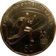 Australia 50 Cents Athletics 2006 KM# 777 XVIII COMMONWEALTH GAMES 50 MELBOURNE 2006 coin reverse