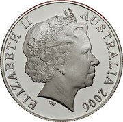 Australia 50 Cents Australian coat of arms 2006 Proof KM# 821a ELIZABETH II AUSTRALIA 2006 coin obverse
