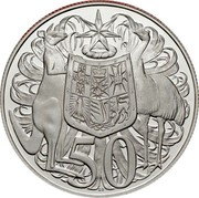 Australia 50 Cents Australian coat of arms 2006 Proof KM# 821a 50 coin reverse