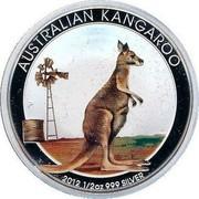 Australia 50 Cents Australian Kangaroo (Colorized) 2012 KM# 1797 AUSTRALIAN KANGAROO 2012 1/2 OZ 999 SILVER P coin reverse