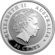 Australia 50 Cents Australian Koala 2013 KM# 1978 ELIZABETH II AUSTRALIA 50 CENTS IRB coin obverse