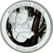 Australia 50 Cents Australian Koala 2013 P Proof KM# 1978a AUSTRALIAN KOALA 2013 1/2 OZ 999 SILVER coin reverse