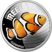 Australia 50 Cents Australian Sea Life - Clownfish 2010 KM# 1328 AUSTRALIAN SEA LIFE THE REEF CLOWNFISH P WR coin reverse
