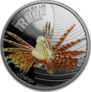 Australia 50 Cents Australian Sea Life - Lionfish 2009 KM# 1100 AUSTRALIAN SEA LIFE THE REEF LIONFISH P WR coin reverse