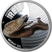 Australia 50 Cents Australian Sea Life - Moray Eel 2010 KM# 1389 AUSTRALIAN SEA LIFE THE REEF MORAY EEL P WR coin reverse