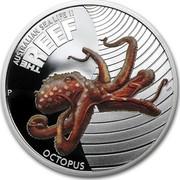 Australia 50 Cents Australian Sea Life - Octopus 2012 KM# 1712 AUSTRALIAN SEA LIFE II THE REEF OCTOPUS P WR coin reverse