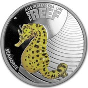 Australia 50 Cents Australian Sea Life - Seahorse 2010 KM# 1329 AUSTRALIAN SEA LIFE THE REEF SEAHORSE P WR coin reverse