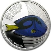 Australia 50 Cents Australian Sea Life - Surgeonfish 2012 KM# 1578 AUSTRALIAN SEA LIFE II THE REEF SURGEONFISH P WR coin reverse