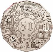 Australia 50 Cents Australian Volunteers 2003 B KM# 689 AUSTRALIA'S VOLUNTEERS 50 coin reverse