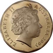 Australia 50 Cents Australia's Volunteers 2003 B Proof KM# 689a ELIZABETH II AUSTRALIA 2003 coin obverse