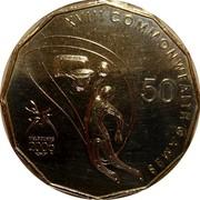 Australia 50 Cents Basketball 2006 KM# 770 XVIII COMMONWEALTH GAMES MELBOURNE 2006 50 coin reverse