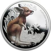 Australia 50 Cents Bush Babies - Kangaroo 2010 KM# 1456 AUSTRALIAN KANGAROO P EM coin reverse