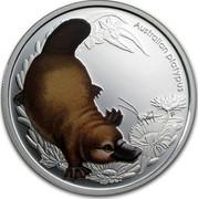 Australia 50 Cents Bush Babies - Platypus 2013 KM# 1915 AUSTRALIAN PLATYPUS P EM coin reverse