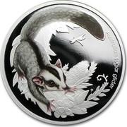 Australia 50 Cents Bush Babies - Sugar Glider 2010 KM# 1450 AUSTRALIAN SUGAR GLIDER P EM coin reverse