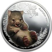 Australia 50 Cents Bush Babies - Wombat 2013 KM# 1914 AUSTRALIAN WOMBAT P EM coin reverse