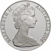 Australia 50 Cents Coat of Arms 2006 KM# 67a ELIZABETH II AUSTRALIA 2006 coin obverse