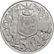 Australia 50 Cents Coat of Arms 2006 KM# 67a 50 SD coin reverse