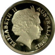 Australia 50 Cents Coat of Arms 2012 KM# 2037 ELIZABETH II AUSTRALIA 2012 IRB coin obverse