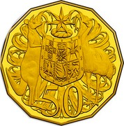 Australia 50 Cents Coat of Arms 2017 Proof KM# 404d 50 coin reverse
