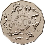 Australia 50 Cents (Commonwealth Games Melbourne 2006) KM# 769 MELBOURNE 2006 XVIII COMMONWEALTH GAMES 50 coin reverse