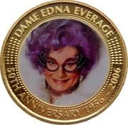 Australia 50 Cents Dame Edna Everage ND-2006 P KM# 1004 DAME EDNA EVERAGE - 50TH ANNIVERSARY coin reverse