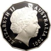 Australia 50 Cents Federation Australia - Colorized 2001 KM# 491.2 ELIZABETH II AUSTRALIA 2001 IRB coin obverse