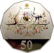 Australia 50 Cents Federation Australia - Colorized 2001 KM# 491.2 AUSTRALIA 50 coin reverse