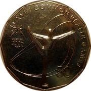 Australia 50 Cents Gymnastics 2006 KM# 774 XVIII COMMONWEALTH GAMES 50 MELBOURNE 2006 coin reverse