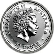Australia 50 Cents Lunar Pig 2007 KM# 1878 ELIZABETH II AUSTRALIA 50 CENTS IRB coin obverse