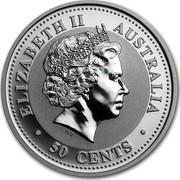 Australia 50 Cents Lunar Rabbit 1999 KM# 501 ELIZABETH II AUSTRALIA 50 CENTS IRB coin obverse