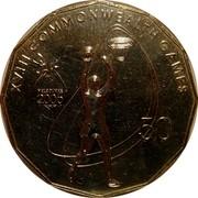 Australia 50 Cents Netball 2006 KM# 779 XVIII COMMONWEALTH GAMES 50 MELBOURNE 2006 coin reverse
