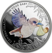 Australia 50 Cents Newborn Baby 2013 P KM# 1926 CONGRATULATIONS ON YOUR BABY 1/2 OZ 999 SILVER P AH coin reverse