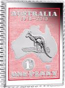 Australia 50 Cents One penny stamp - Kangaroo 2013 KM# 2141 AUSTRALIA 1913-2013 1D ONE PENNY coin reverse